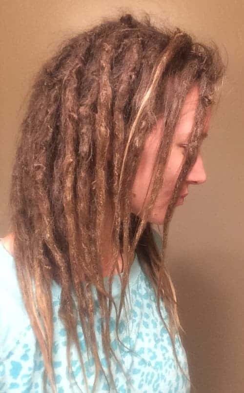 Nadia month 8 of dreadlocks
