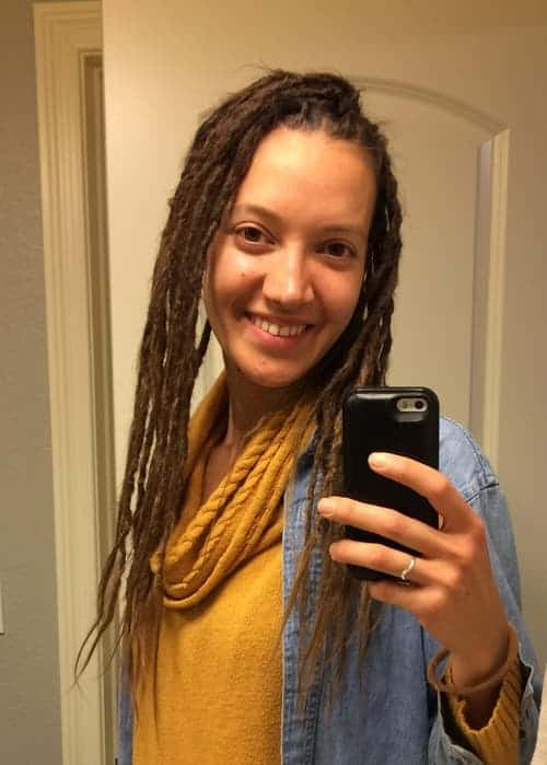 Nadia day 1 of dreadlocks