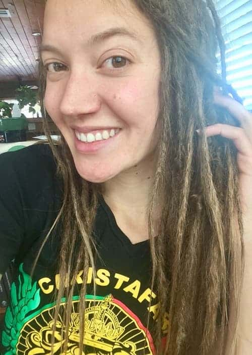 Nadia month 1 of dreadlocks