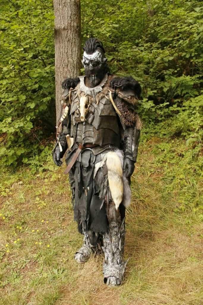 Orc costume with dreadlocks